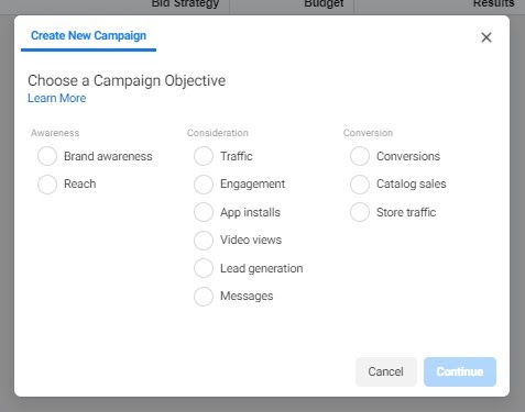 Creating Ad campaign