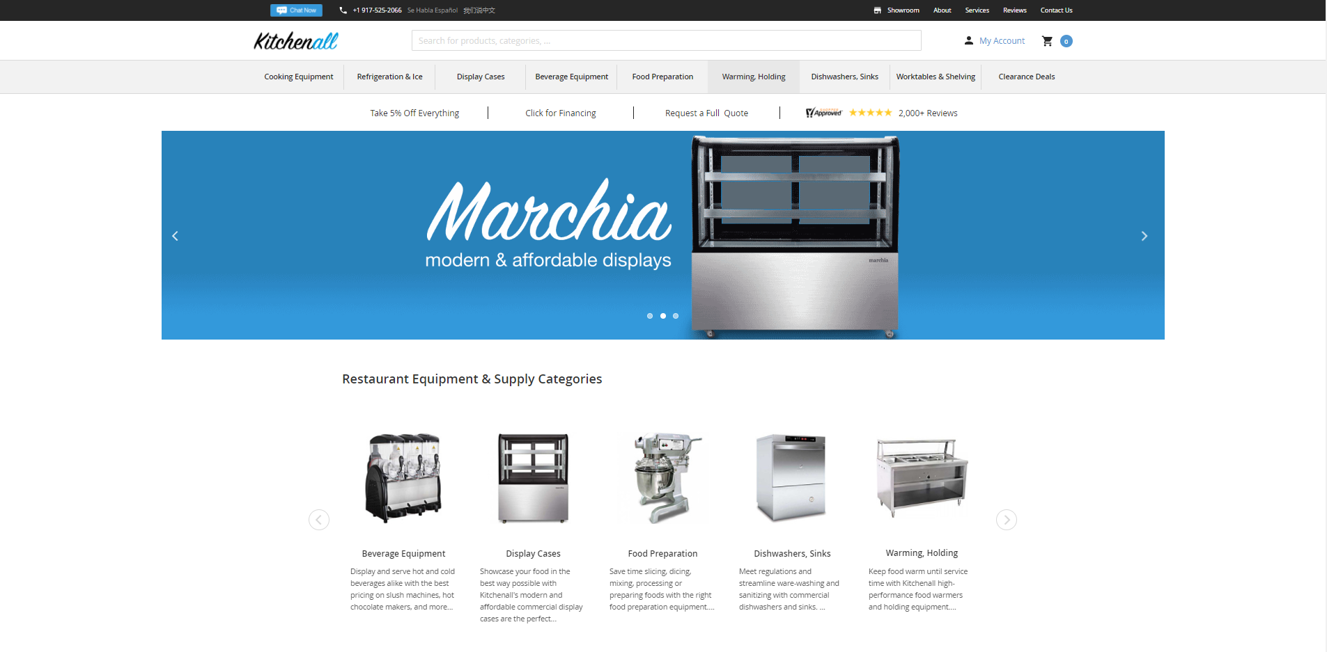 kitchenall portfolio website