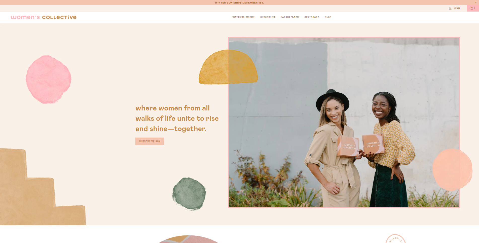 womens collective website development portfolio