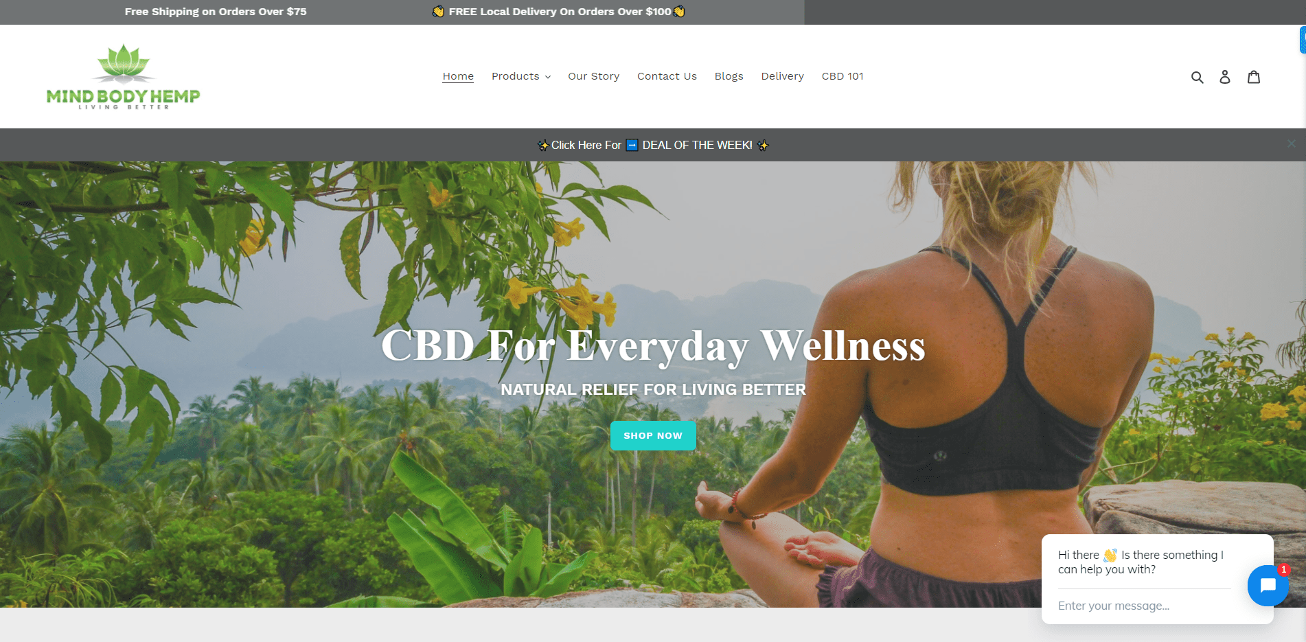 mind body hemp portfolio website