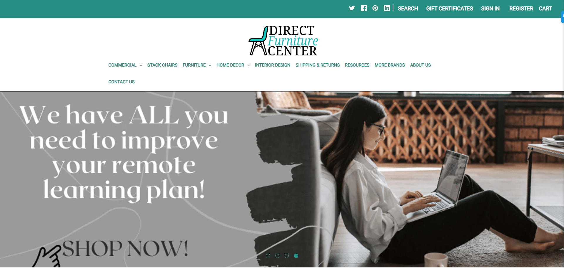 Direct furniture center portfolio website