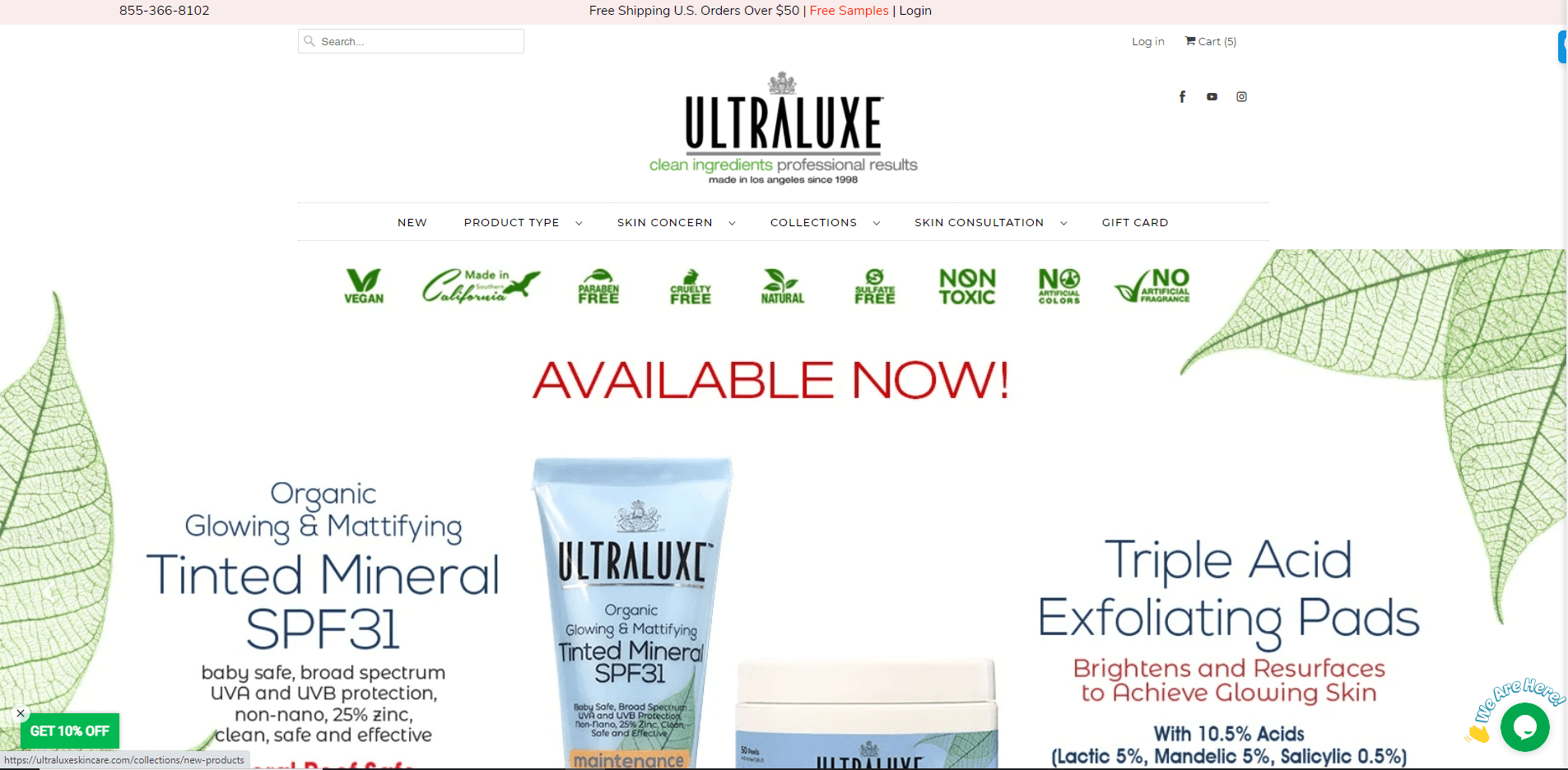 ULTRALUXE.com portfolio website